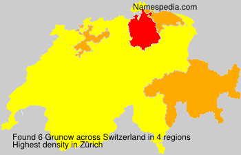 Surname Grunow in Switzerland