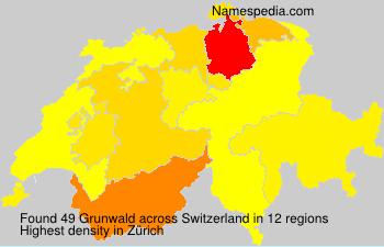 Surname Grunwald in Switzerland