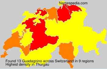 Surname Guadagnino in Switzerland