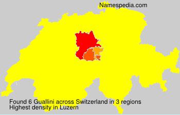 Surname Guallini in Switzerland
