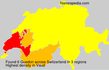 Surname Guedon in Switzerland