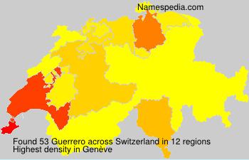 Surname Guerrero in Switzerland