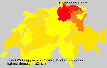 Surname Gugg in Switzerland