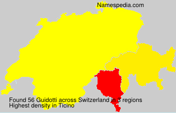 Surname Guidotti in Switzerland