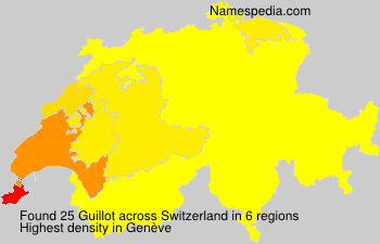 Surname Guillot in Switzerland