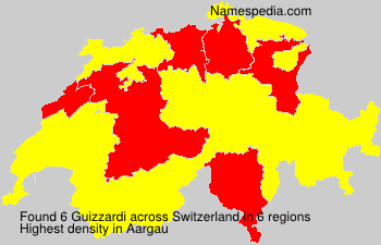 Surname Guizzardi in Switzerland