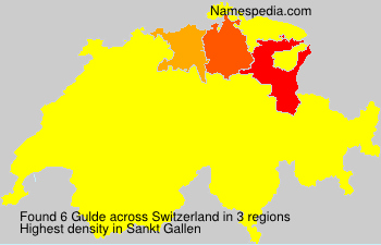 Familiennamen Gulde - Switzerland