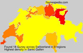 Surname Guney in Switzerland