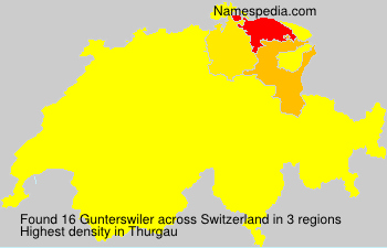 Surname Gunterswiler in Switzerland