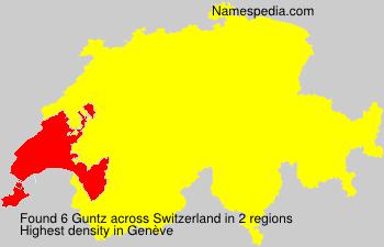 Familiennamen Guntz - Switzerland