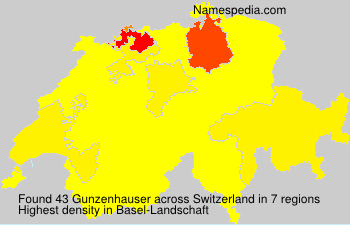 Surname Gunzenhauser in Switzerland