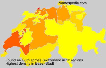 Surname Guth in Switzerland