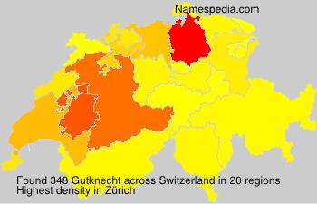 Surname Gutknecht in Switzerland
