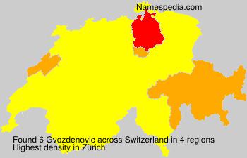 Surname Gvozdenovic in Switzerland