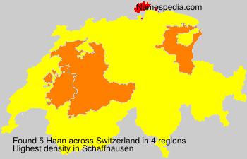 Familiennamen Haan - Switzerland