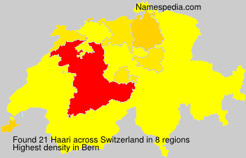 Surname Haari in Switzerland