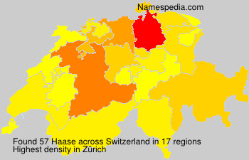 Surname Haase in Switzerland