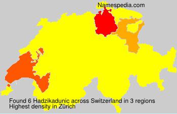 Familiennamen Hadzikadunic - Switzerland