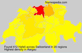 Surname Hafeli in Switzerland