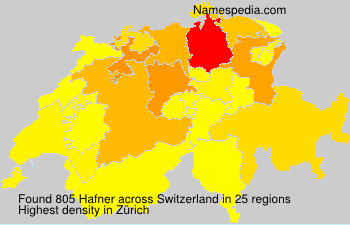 Surname Hafner in Switzerland