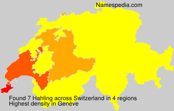 Surname Hahling in Switzerland