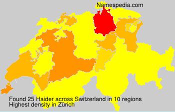 Surname Haider in Switzerland