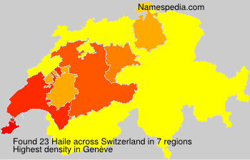 Surname Haile in Switzerland