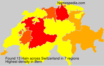 Surname Hain in Switzerland