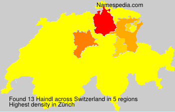 Surname Haindl in Switzerland