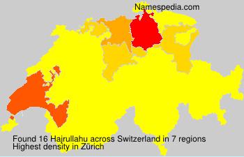 Surname Hajrullahu in Switzerland