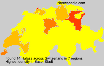 Surname Halasz in Switzerland