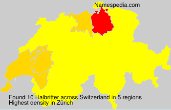 Surname Halbritter in Switzerland