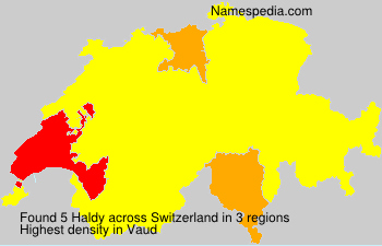 Surname Haldy in Switzerland