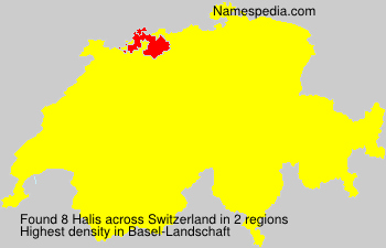 Surname Halis in Switzerland