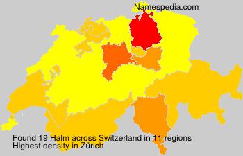 Surname Halm in Switzerland