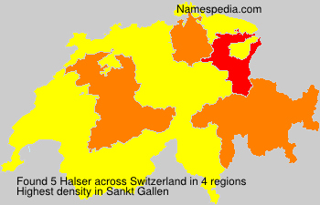 Surname Halser in Switzerland