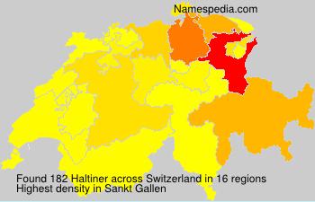 Surname Haltiner in Switzerland