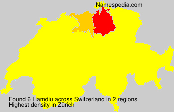 Surname Hamdiu in Switzerland