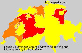 Surname Hamidovic in Switzerland