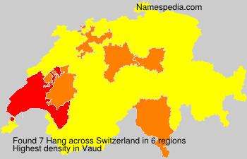 Surname Hang in Switzerland