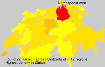 Surname Hanisch in Switzerland