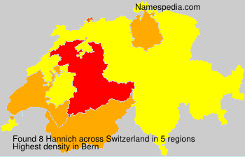 Surname Hannich in Switzerland
