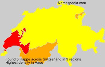 Surname Happe in Switzerland