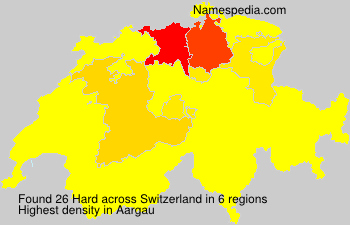 Surname Hard in Switzerland
