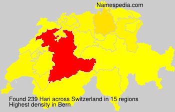 Surname Hari in Switzerland