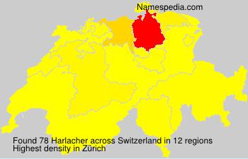 Surname Harlacher in Switzerland