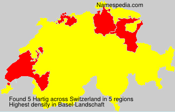 Surname Hartig in Switzerland