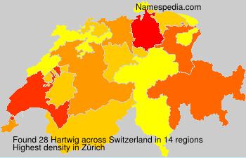 Surname Hartwig in Switzerland