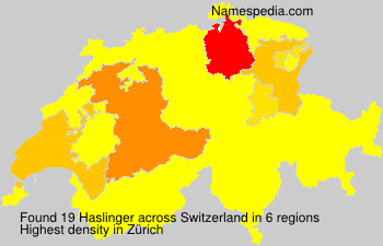 Familiennamen Haslinger - Switzerland