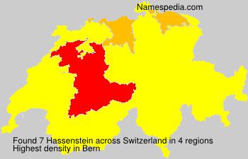 Surname Hassenstein in Switzerland
